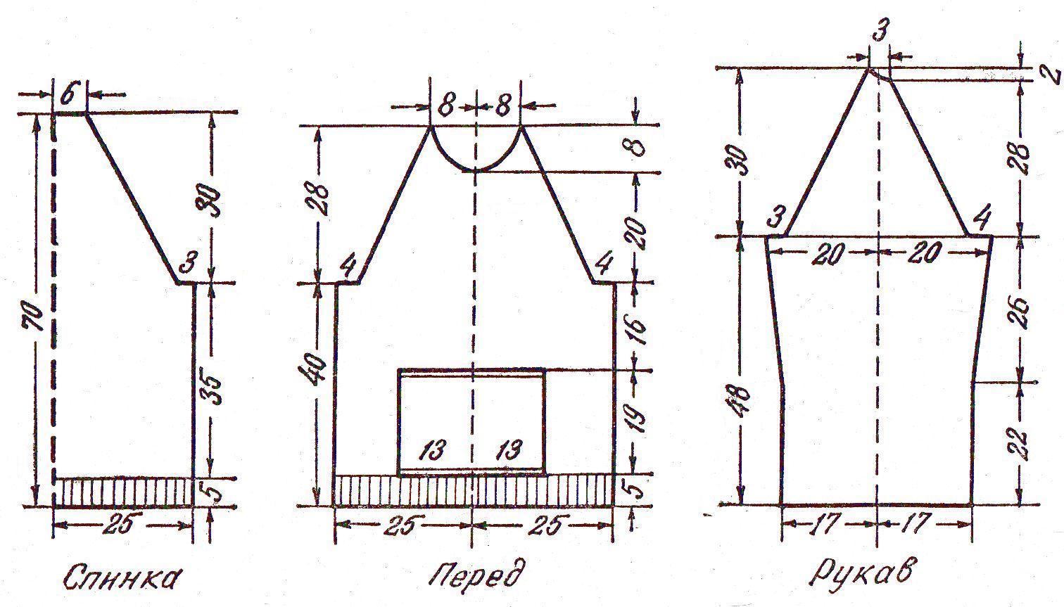 Выкройка толстовки реглан с капюшоном Шкатулка 45